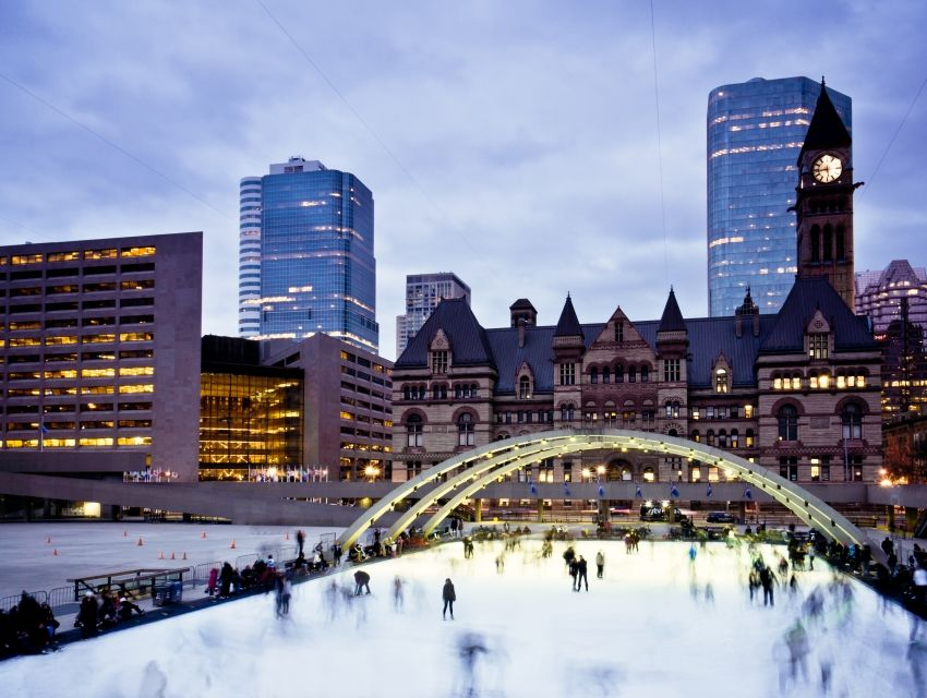 Nathan Phillips Square Ice Skating